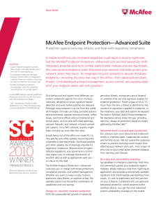McAfee Endpoint Protection-Advanced Suite - Data Sheet