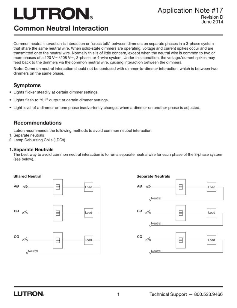 Common Neutral Interaction Application Note Part #048017d