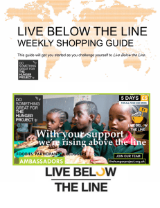 live below the line - The Hunger Project UK