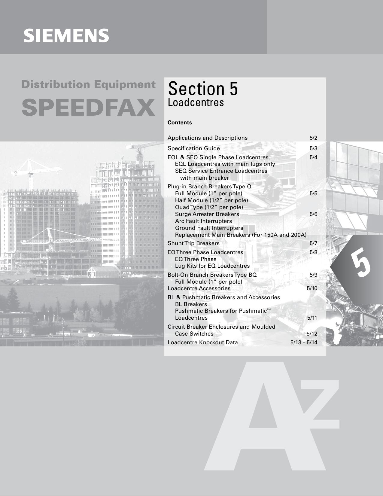 Section 5 Siemens Canada Diagram Of Pushmatic Circuit Breaker Panel Wiring