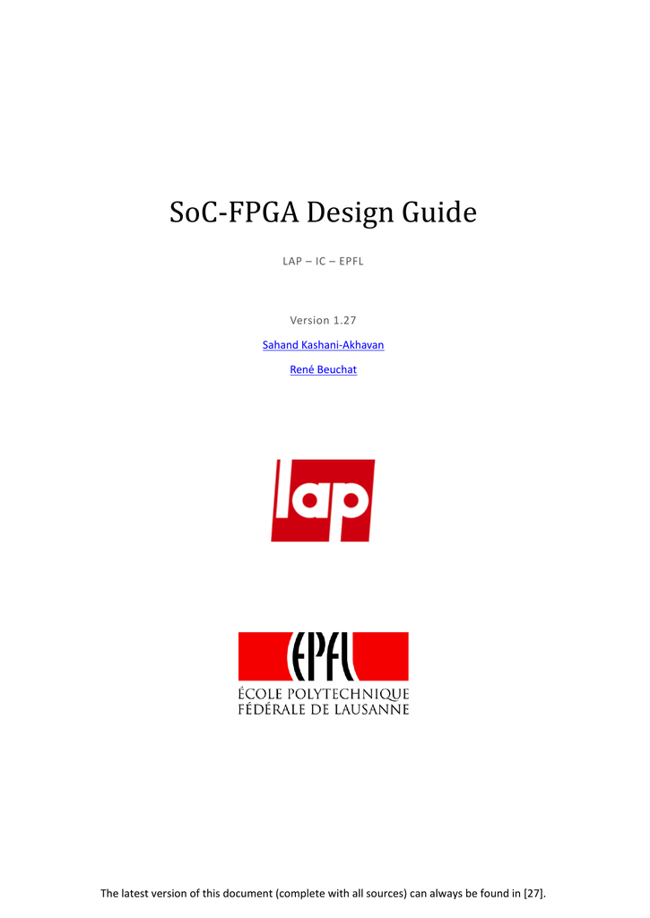 SoC-FPGA Design Guide - Moodle