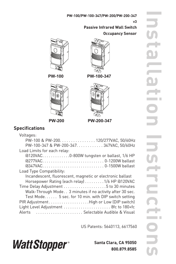wattstopper wiring diagrams wattstopper legrand pw100w installation  wattstopper legrand pw100w installation
