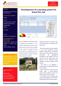 Development of a warning system for forest fire risk