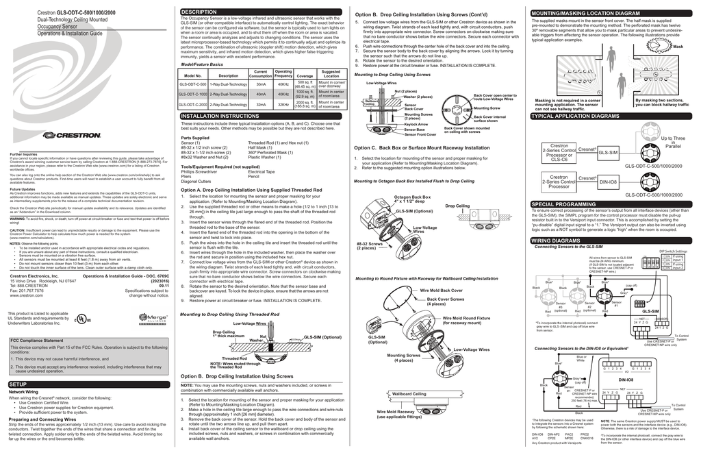 Operations And Installation Guide Gls Odt C 500 Gls