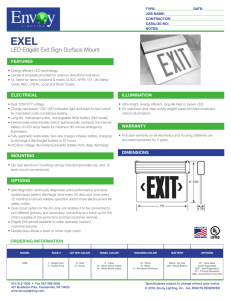 LED Edgelit Exit Sign-Surface Mount