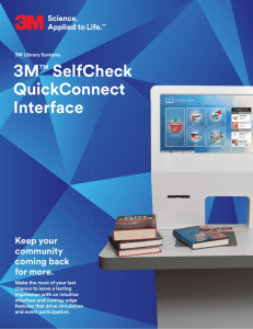 3MTM SelfCheck QuickConnect Interface