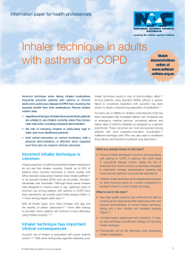 Inhaler technique for people with asthma or COPD
