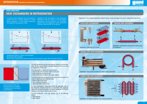 Basic Knowledge - Heat Exchangers in Refrigeration