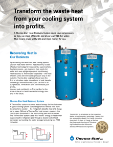 Transform the waste heat from your cooling system into profits.
