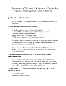 (FAQ) -- Admissions - Mechanical and Aerospace Engineering