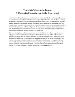 TeachSpin`s Magnetic Torque A Conceptual Introduction to the