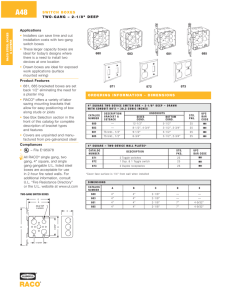 "SWITCH BOXES TWO-GANG – 2-1/8"" DEEP ORDERING"