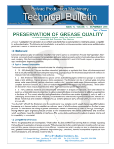 Preservation of Grease Quality