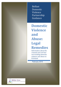 Domestic Violence and Abuse: Legal Remedies