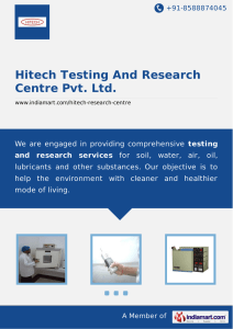 Hitech Testing And Research Centre Pvt. Ltd., New Delhi