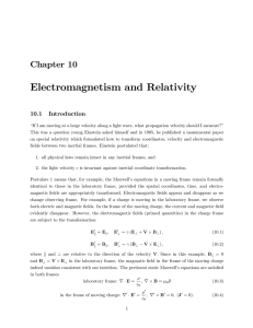 Electromagnetism and Relativity