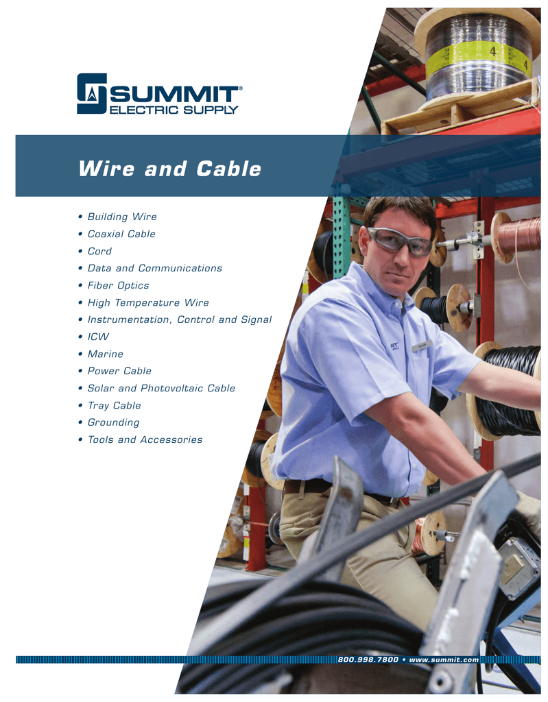 Summit Electric Supply Wire And Cable Catalog Wc12 Catv Wiring Data Basement