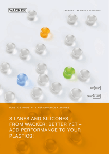 silanes and silicones from wacker: better yet – add performance to