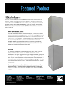 NEMA 12 Freestanding Cabinet Sales Sheet