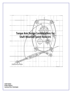 Torque Arm Design Considerations for Shaft