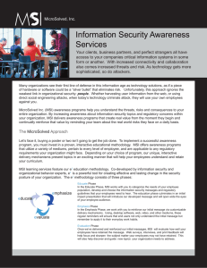 Information Security Awareness Services