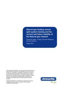Natural gas heating versus split system heating and the