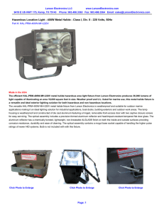 Hazardous Location Light - 400W Metal Halide