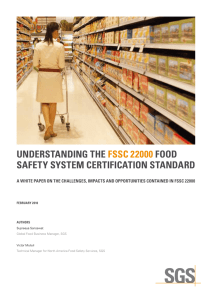 understanding the fssc 22000 food safety system certification standard