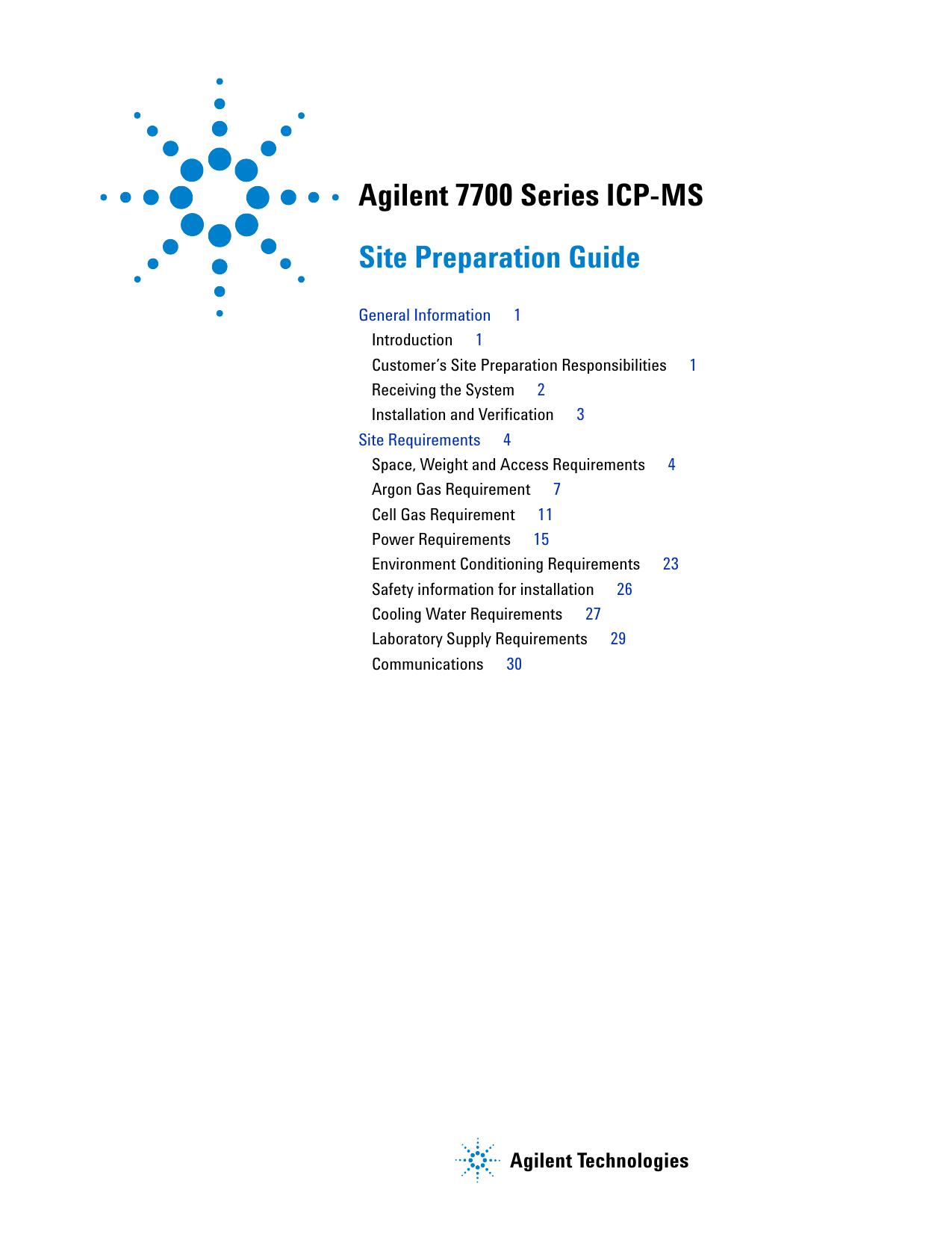 agilent 7700 series icp ms site preparation guid rh studylib net