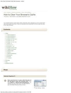 How to Clear Your Browser`s Cache (with screenshots)