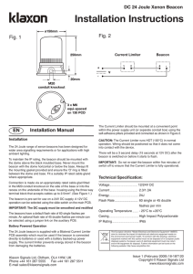 Installation Instructions - Klaxon Signalling Solutions