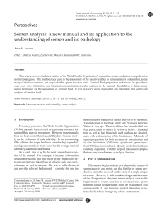 Semen analysis: a new manual and its