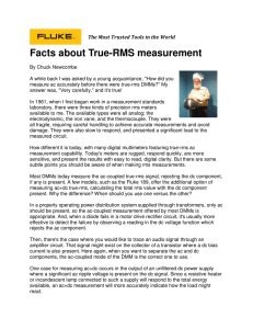 Facts about True-RMS measurement