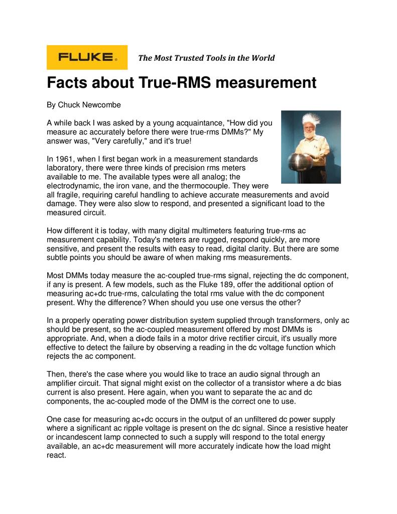 Facts About True Rms Measurement Simple Ac Circuit Calculations Measurements