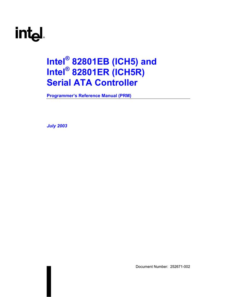 INTEL 8280IEB ICH5 DRIVER DOWNLOAD