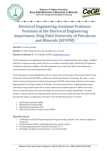 Electrical Engineering Assistant Professor Positions