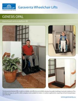 Genesis unenclosed vertical platform lift planning guide for Www garaventalift com