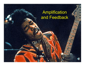 Amplification and Feedback