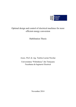 Optimal design and control of electrical machines for more efficient