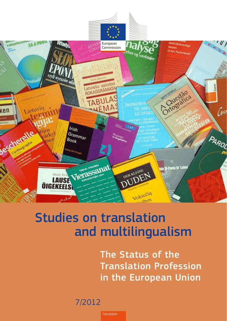 Studies On Translation And Multilingualism