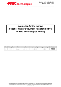 Document Name - FMC Technologies