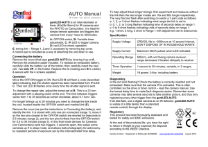 AUTO Manual - Gentles Limited