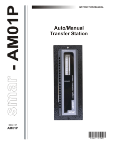 Auto/Manual Transfer Station