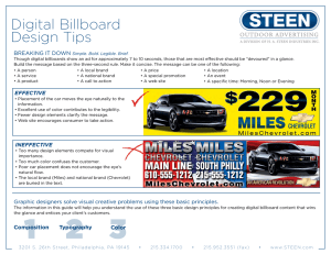 Digital Billboard Design Tips