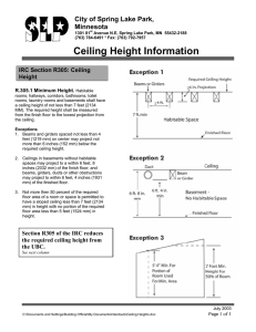 Ceiling Height Information
