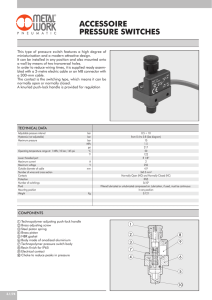 accessoire pressure switches