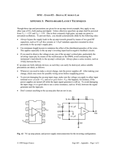 APPENDIX 2: TIPS ON OP AMP CIRCUIT LAYOUT AND