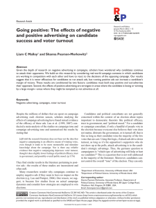 Going positive: The effects of negative and positive advertising on