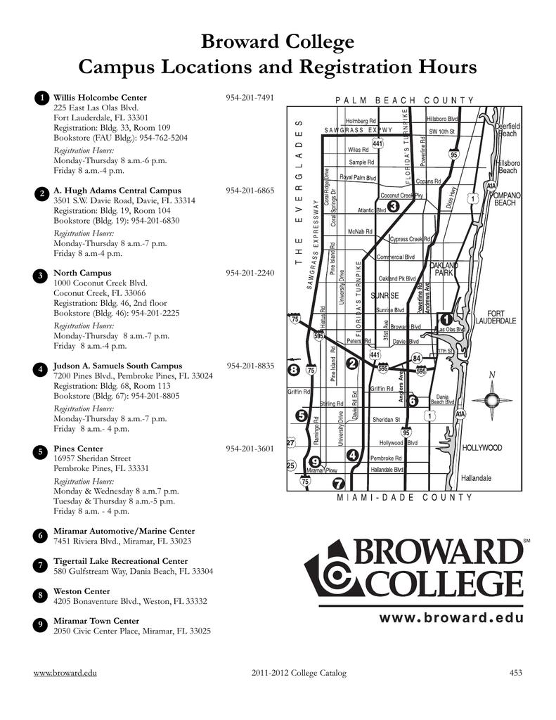broward college davie campus map Campus Maps Broward College broward college davie campus map