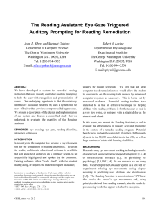 The Reading Assistant: Eye Gaze Triggered Auditory Prompting for